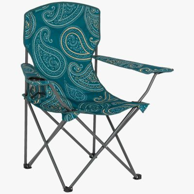 Stirling Camp Chair, Paisley Print Teal