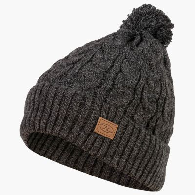 Beira Lined Bobble Hat, Charcoal Marl