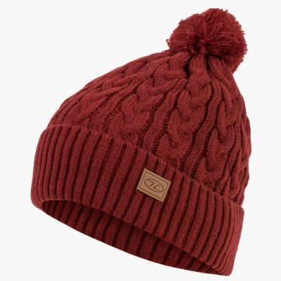 Beira Lined Bobble Hat, Dark Red