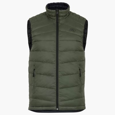 Reversible Gilet, Black and Olive