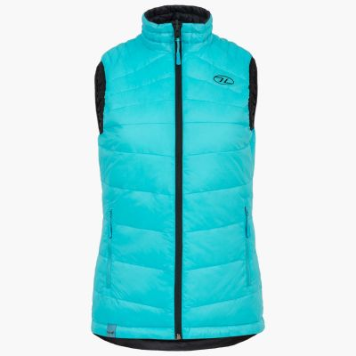 Reversible Gilet, Womens, Black and Turquoise