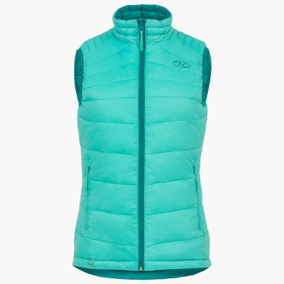 Reversible Gilet, Womens, Emerald and Mint
